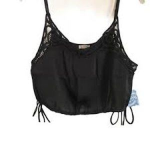 Intimately Free People Black w/ Lace NWT